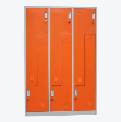 metal lockers Z Type Steel 6 Doors Athletic room furniture